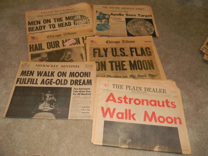 Old Newspapers with Historical Headlines (20 pictures).