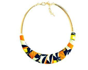 Collar babero de estilo africano / africana moda por nad205 en Etsy