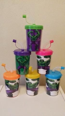 Incredible Hulk Party Favor Cups Personalized with Thanks for coming, Incredible Hulk Super Hero Birthday Treat Cups Set of 6, BPA Free