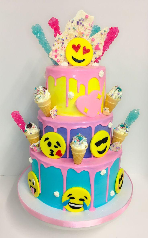 Emoji drip cake.