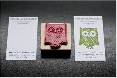 stamp business card idea.