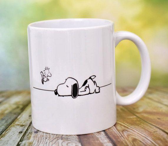 Snoopy Snoopy mug mugs coffee mug custom mug by ShopHappyCrafts