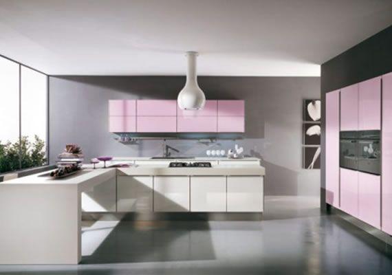 Modern Pink Kitchen Design by Julie Michiels   Interior Design   Interior Decorating Ideas   Interior Design Photos