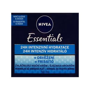 Nivea Essentials Refreshing 24h Intensive Hydrating Night Cream for Normal to Combination skin 50ml 1.69 fl oz