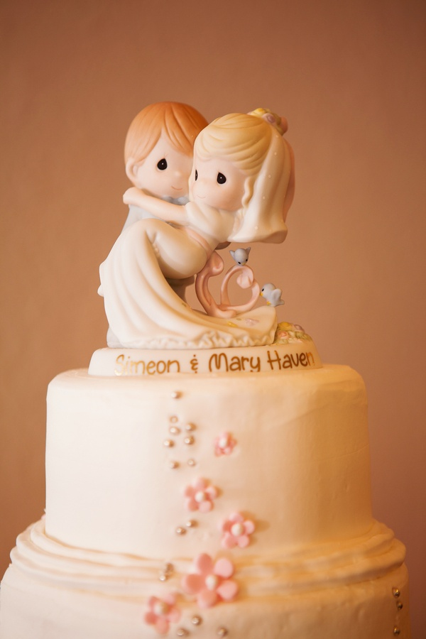 Sweet Personalized Wedding Cake Topper Precious Moments