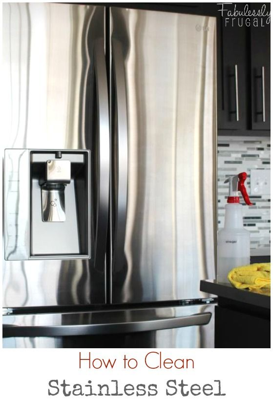 Super+easy,+quick,+and+cheap+way+to+clean+stainless+steel.+  This+is+how+I+clean+my+stainless+steel+appliances!+  http://fabulesslyfrugal.com/?p=224644