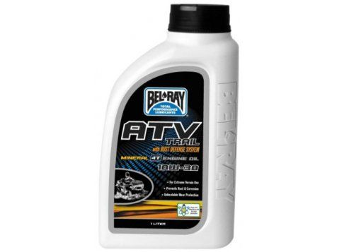 Bel-Ray ATV Trail mineralny 4T to olej dedykowany do silników czterosuwowych. Zaprojektowany specjalnie aby zaspokoić potrzeby rekreacyjne i użytkowe All Terrain Vehiclec (ATV) czyli popularnych quadów.