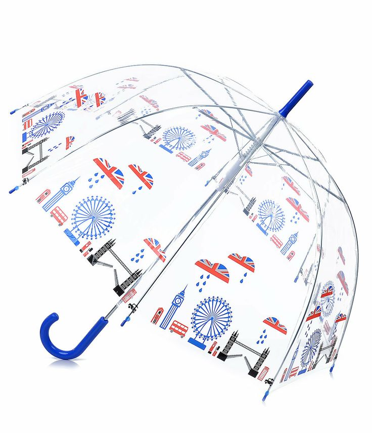 Clear London Union Jack Cityscape Umbrella - Unique Vintage - Prom dresses, retro dresses, retro swimsuits. on Wanelo