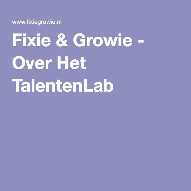 Fixie & Growie - Over Het TalentenLab