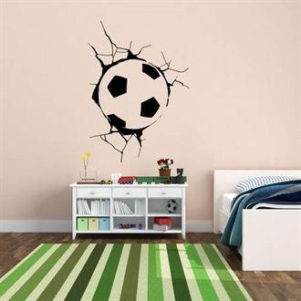 Wallstickers fodbold med revner