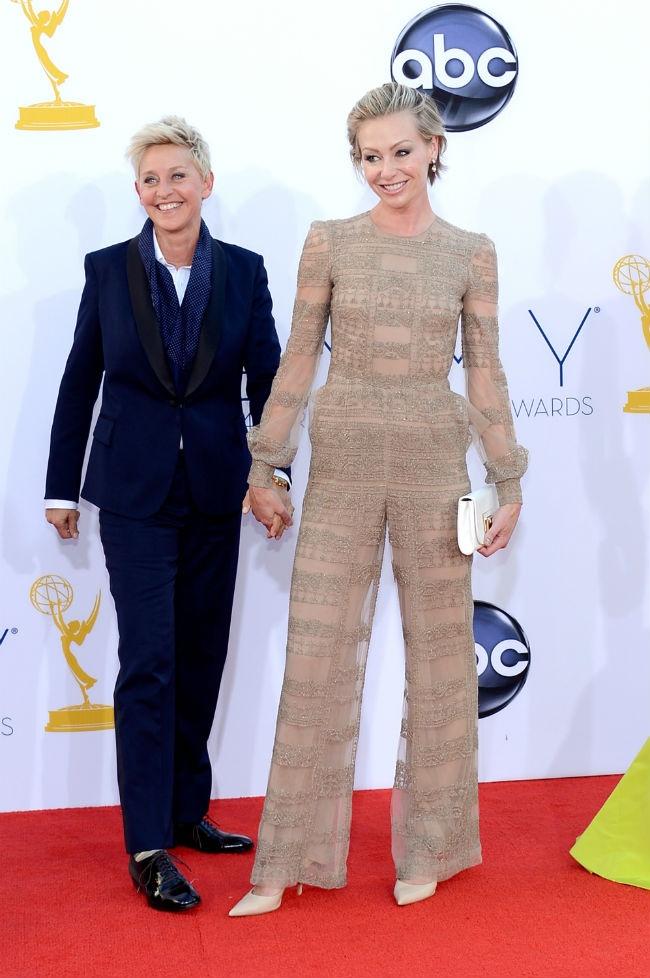 Ellen DeGeneres and Portia de Rossi in Valentino: Ellen Degeneres, Ellendegeneres Portiaderossi, Emmy Awards, Portia De Rossi, Red Carpet, Emmys Redcarpet, 2012 Emmys, Degeneres Emmys