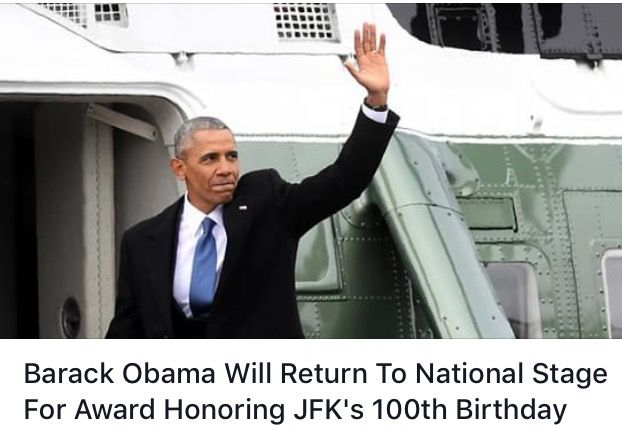#CONGRATS #44thPresident #BarackObama was named the 2017 #winner of the John F. Kennedy Profile in Courage Award on Thursday March 2, 2017 for carrying on his fellow Democrat's legacy. Barack Obama Will Return To National Stage For #Award #Honoring JFK's 100th Birthday President BarackObama will deliver a speech at the special centennial event, a ceremony on May 7, 2017 at Boston's John F. Kennedy Presidential Library and Museum.