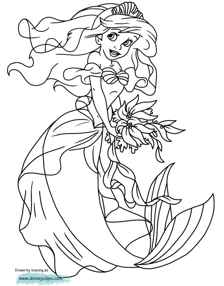 The Little Mermaid Coloring Pages Beautiful Coloring Ideas