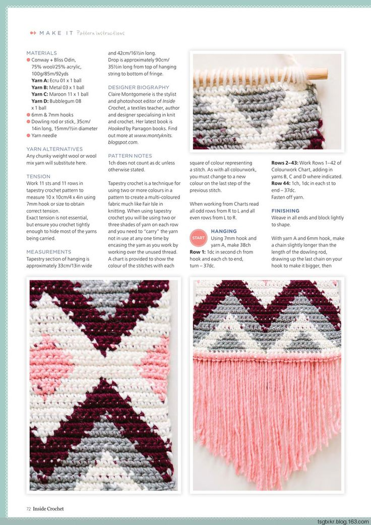 Mejores 348 imágenes de Crochet en Pinterest | Patrones de punto ...