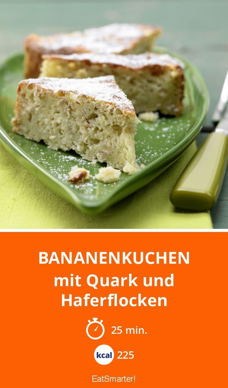 Bananenkuchen - mit Quark und Haferflocken - smarter - Kalorien: 225 kcal - Zeit: 25 Min. | eatsmarter.de