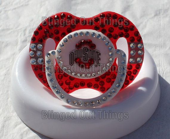 OHIO STATE Bling Baby Pacifier w/Swarovski by BlingedOutThings, $30.00