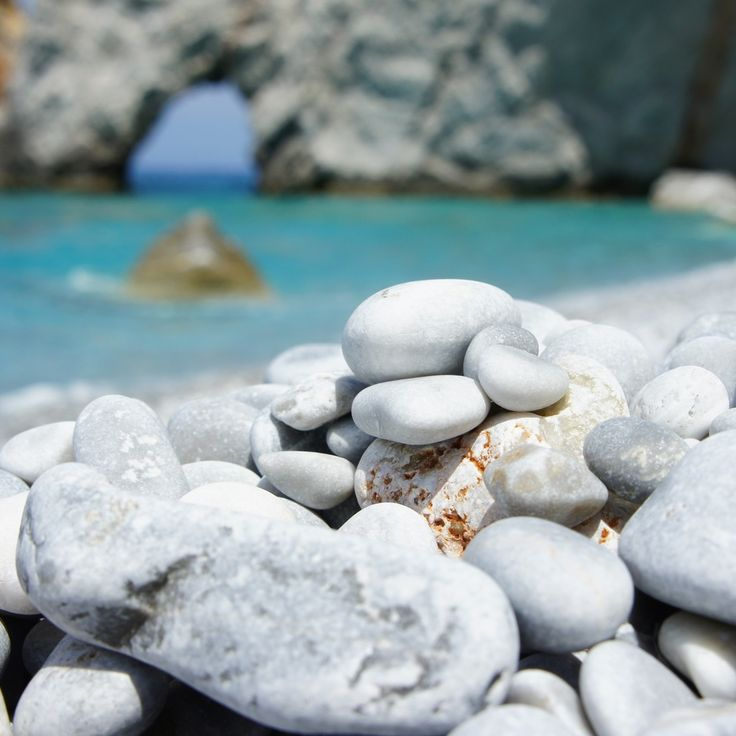 Stones - Lalaria beach, Skiathos, Greece.