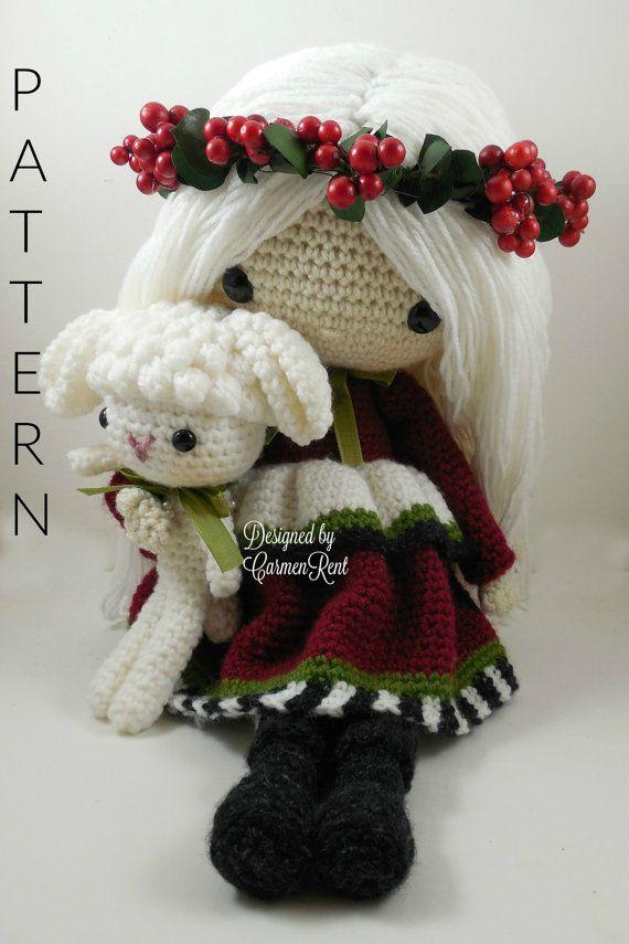 December Amigurumi Doll Crochet Pattern от CarmenRent на Etsy