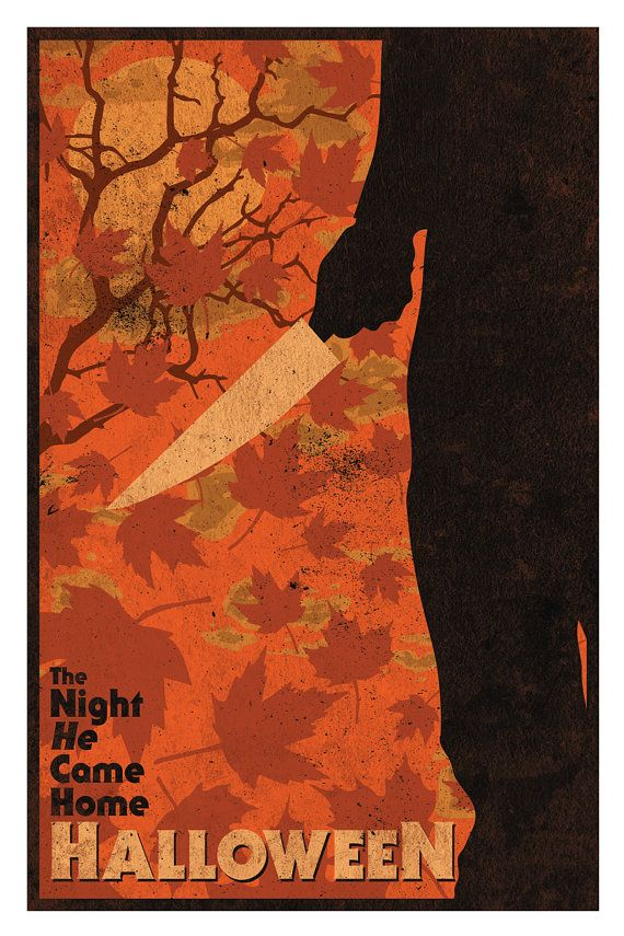 Halloween Movie 1978 12 x 18 Inch Print Michael by MattPepplerArt