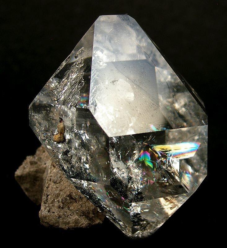 Quartz var. Herkimer Diamond / Ace of Diamonds Mine, Middleville, Town of Newport, Herkimer Co., New York