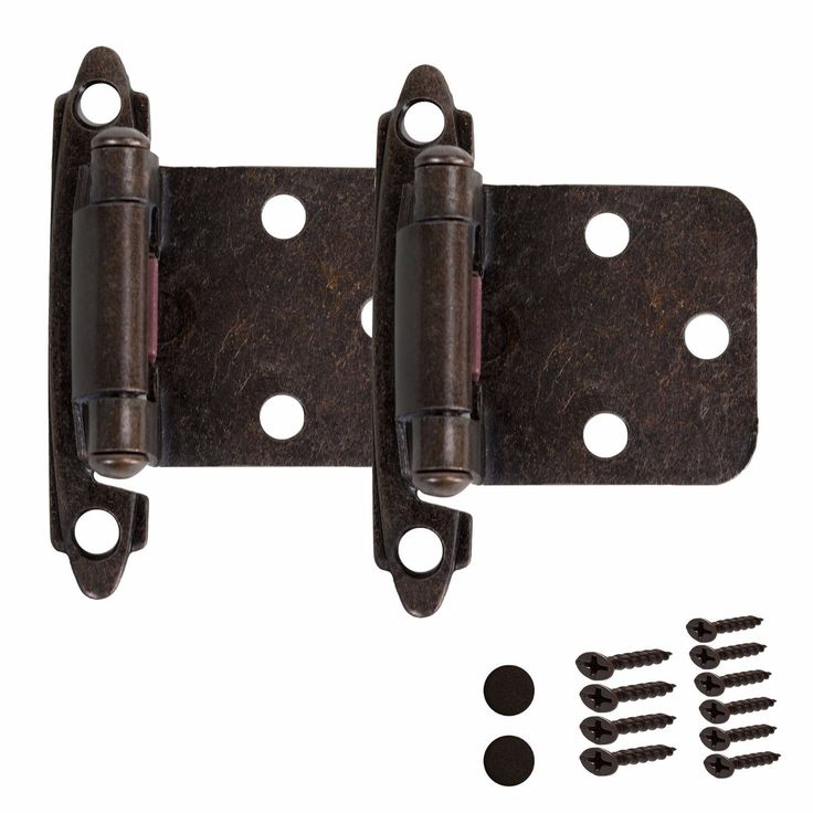 Kitchen Cabinet Hinges Self Closing Door Overlay Oil Rubbed Bronze Hardware Combined Shipping Discount - Pay $2.99 Once and Additional Pair Packs Ship... #overlay #rubbed #bronze #hardware #door #closing #cabinet #hinges #self #kitchen
