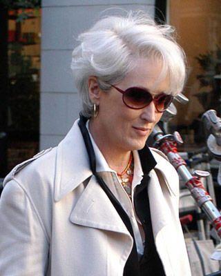 Meryl rockin the gray hair
