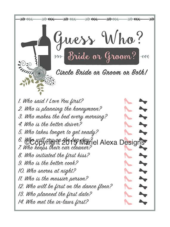 vineyard winery theme guess who bride or groom he said she said bridal shower game