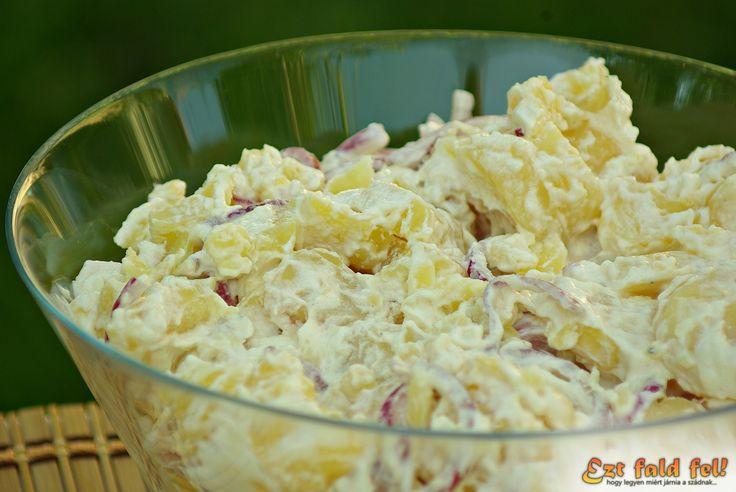 Ezt fald fel!: Krumplisaláta, avagy az isteni burgonyasaláta hagymával, majonézzel