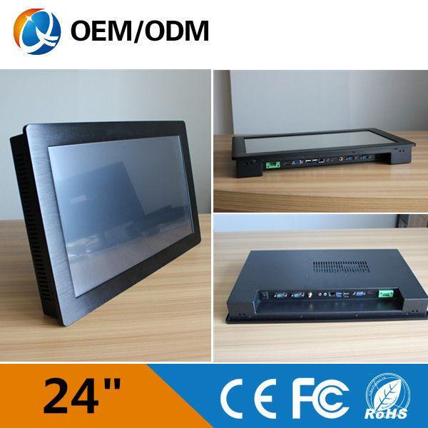 """24 """"Resolution1920x1080 الصناعي الكمبيوتر الحاسوب/بالسعة اللمس/i3 cpu 2 جيجابايت رام 500 جرام hdd"""