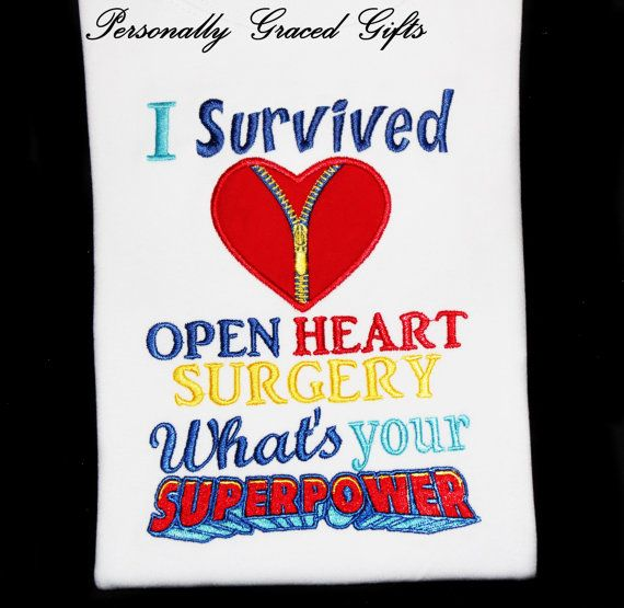 I Survived Open Heart Surgery Whats Your Superpower Awareness Kids Toddler Baby Adult Custom Embroidered Saying Shirt with Zipper Heart This