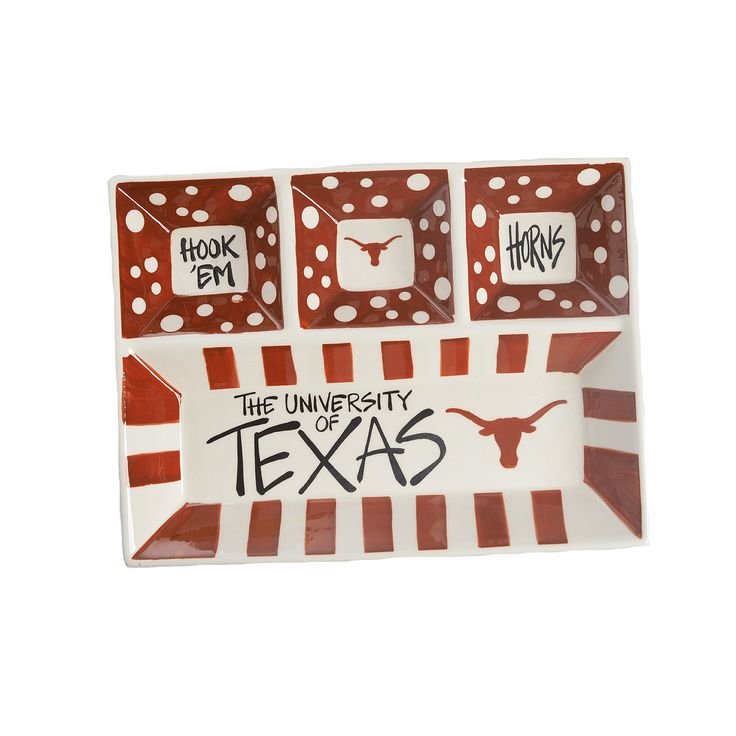 Texas Longhorn 4 Section Platter - Sue Patrick
