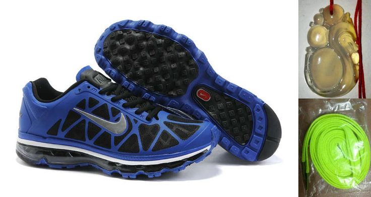 Chalcedony Dragon Volt Lace Mens Nike Air Max 2011 Drenched Blue/Metallic Silver-Black Sneakers