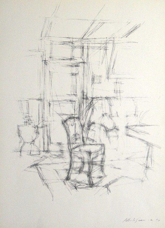 """Alberto Giacometti, original Lithograph Derriere le Miroir"""" No 98, 1957"""