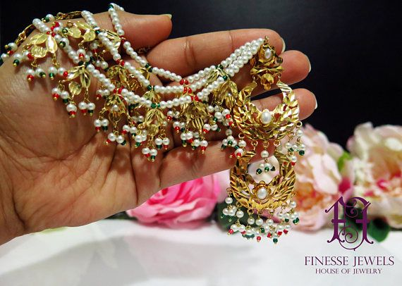 Kashees Jadau Hyderabadi Earrings,Pakistani Jewelry, Nizami Earrings, Navratan Multicolor, Indian Earrings  Ready to Ship  Beautiful Kashees Bridals Inspired Rajputana and Nizami Earrings Pair will beautify any Formal or Semi Formal Dress. #indianbride #indianwedding #bridal #bridaldetails #polki #green #kashees #jadau #hyderabadi #indianjewelry #pakistanijewelry Gold Plated Intricately designed lovely