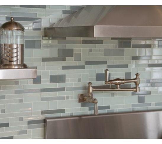Grey Blue Backsplash | Modern Glass Tile Backsplash For Kitchens | Decozilla - 31 Best Images About Kitchen Backsplash On Pinterest Modern