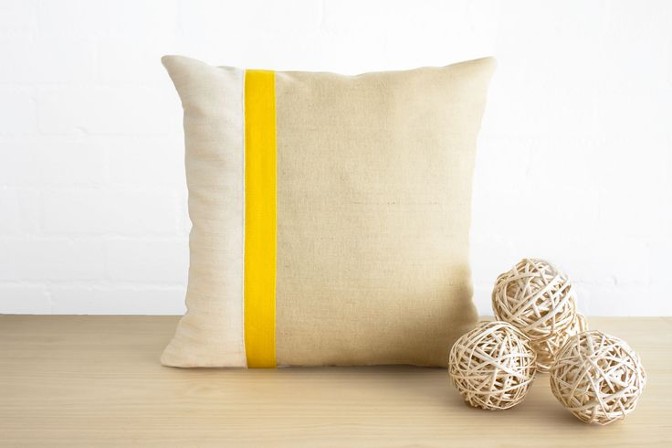 Coastal textures - cotton, hemp, jute - in my Verandah cushion in colour Sunshine