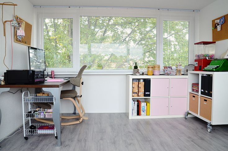 Vera Bertens and her home office in The Netherlands