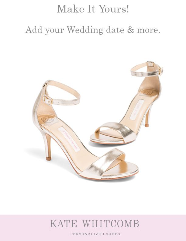 db373708f207 Gorgeous gold bridal sandals offering comfort and style •Wedding Shoes  •Ivory shoe for bride •Bridal sandals •Ivory Bridal Shoes