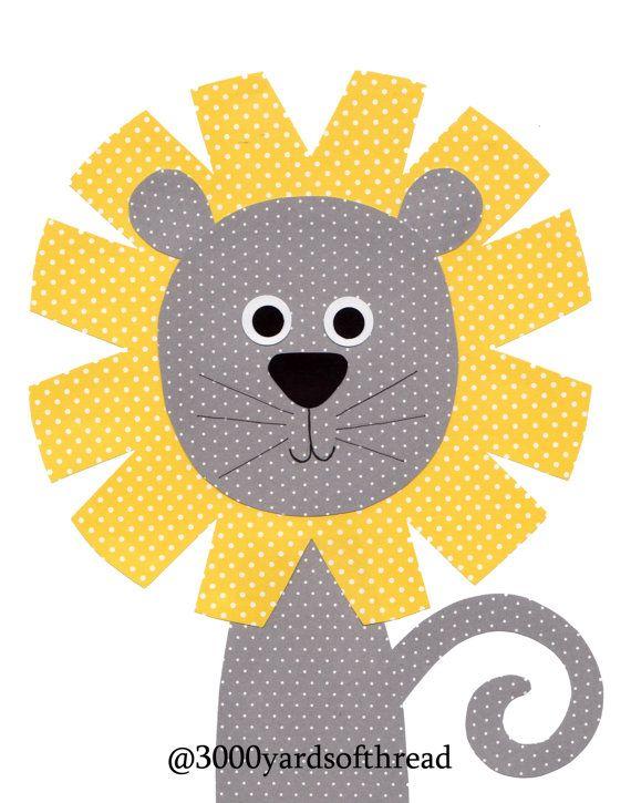 1400 Lion Nursery Artwork Print // Nursery por 3000yardsofthread