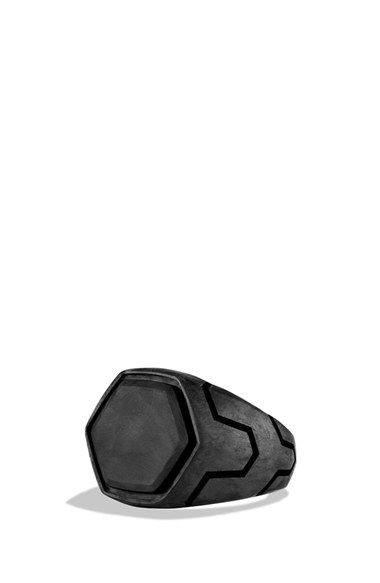 Free shipping and returns on David Yurman 'Forged Carbon' Signet Ring at Nordstrom.com. Sterling silver. Forged carbon inlay, 17 x 17mm, or pavé black diamonds, 1.01 carat weight. Ring, 7-18mm wide. By David Yurman; imported.