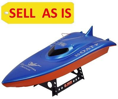 SELL AS IS Balaenoptera Musculus RC Racing Boat Double Horse 7002 Pre-Owned Used