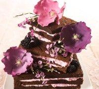 Recept: Brownie stapel taart met bloemen - Taart - Recepten   Deleukstetaartenshop.nl