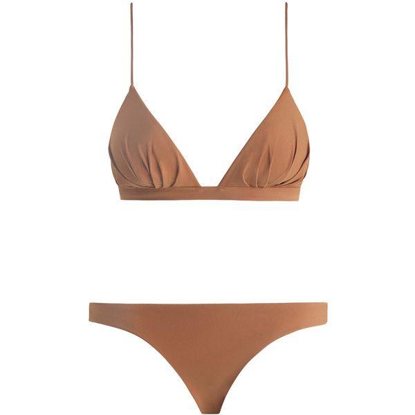 ZIMMERMANN Chroma Tuck Tri Bikini ($235) ❤ liked on Polyvore featuring swimwear, bikinis, swim swimwear, bikini two piece, zimmermann bikini, zimmermann and summer bikini