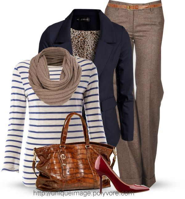 "Love this look, with flats or 1/2"" to 1 inch heels in a rust color.  Love this look, with 1/2"" to 1 inch heels. Simple Style for a Gorgeous Look : 31 Casual Work Outfits Polyvore Ideas - Be Modish - Be Modest."