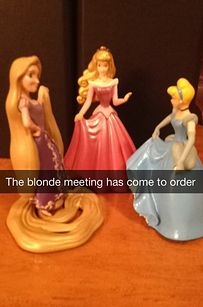 The one about their hair colors: | These Brilliant Snapchat Stories About Disney Princesses' Secret Lives Will Make You Laugh Out Loud