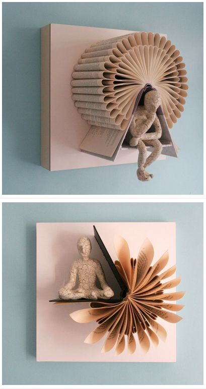 Amazingly repurposed by Daniel Lai, for sale on Etsy! #textbooks #textbookart