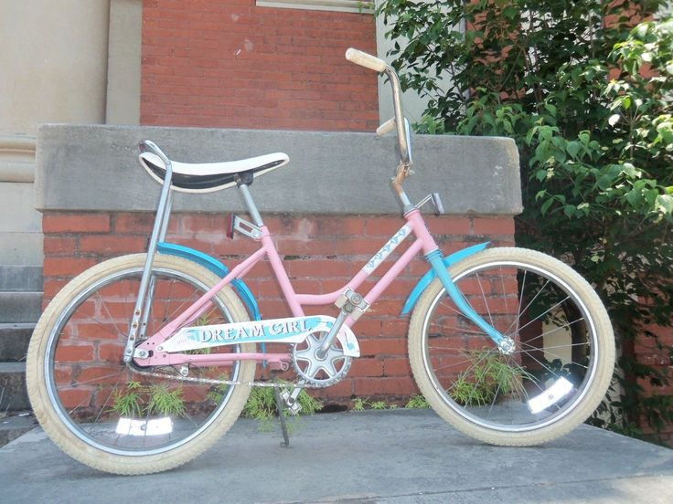 Vintage 80's Huffy Dream Girl 20 Bike with banana seat - loved this thing until some mean boy said i was no dream girl :(