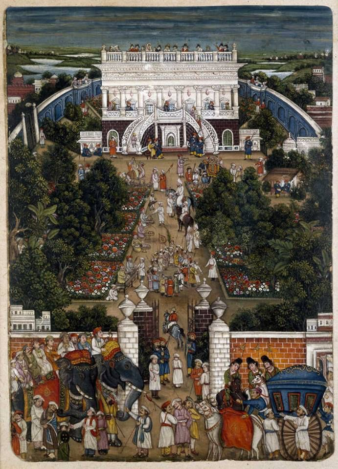A portrait from Begum Samru's palace at Chandni Chowk. The palace, though currently being used by SBI, still stands tall and boastful of the riches of Begum Samru and her journey from a Nautch artist to the ruler of Sardana.