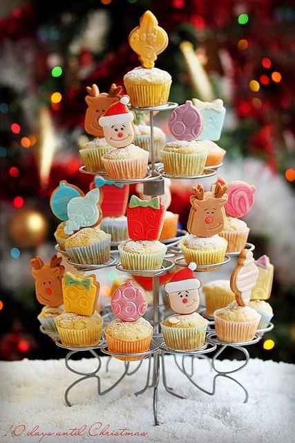 Christmas cupcake tree.