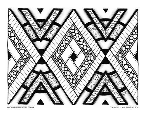Coloring Page For Adults And Grown Ups Geometric Pattern To Color In This Printable